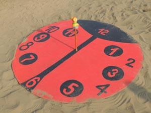 Как сделали солнечные часы 1