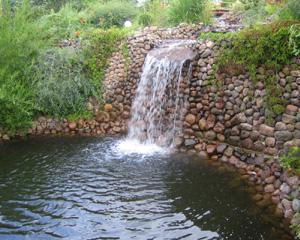 Как сделать водопад для пруда